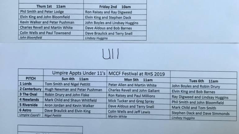 MCCF UMPIRES 2019