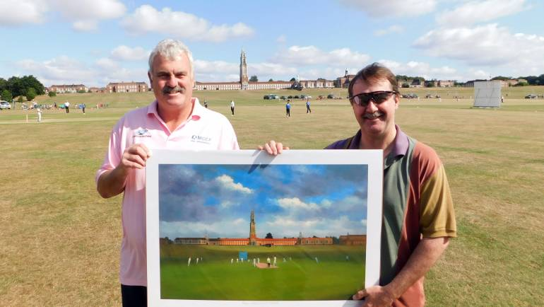 England wicketkeeping legend paints the School's Cricket scene